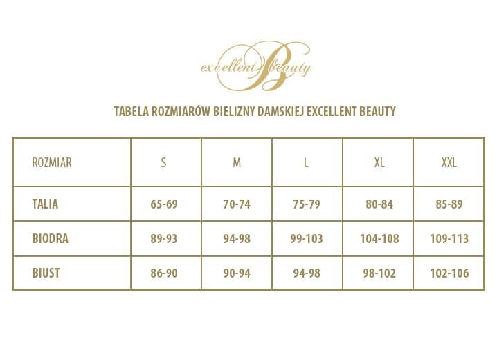 tabela rozmiarów piżamki satynowe Excellent Beauty